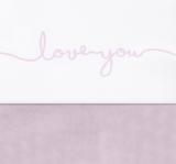 Jollein wieglaken love you roze _