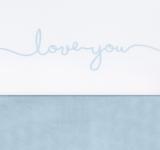 Jollein wieglaken love you blauw _