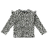Your Wishes ruffle top leopard camo _