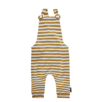 Jumpsuit stripes ochre