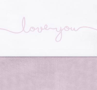 Jollein ledikantlaken love you roze