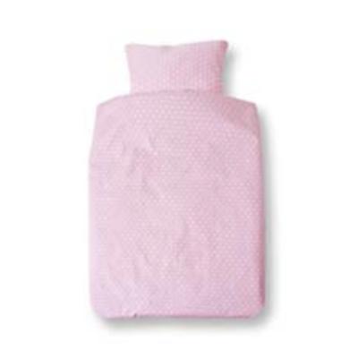 Cotton Baby dekbedovertrek roze met stip