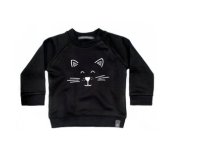 Your Wishes sweater cat zwart