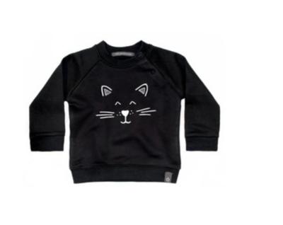 Your Wishes sweater cat zwart