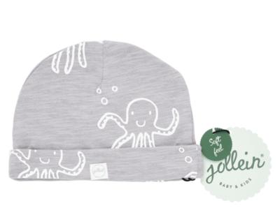 Jollein mutsje octopus grijs