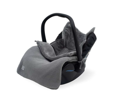 Jollein comfortbag basic knit stone grey velvet