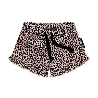 Your Wishes ruffle shorts leopard roze