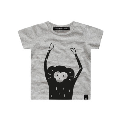 Your Wishes monkey face shirt korte mouw