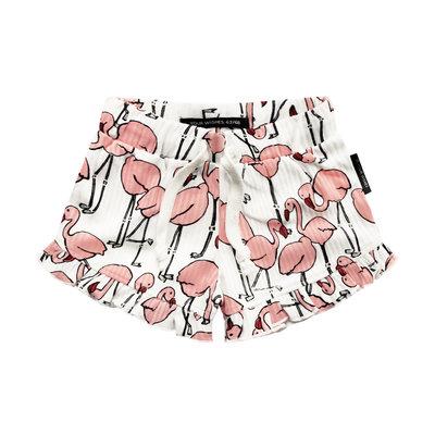 Your Wishes flamingo ruffle shorts