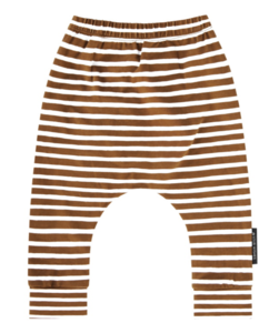 Stripes Camel baggy broek