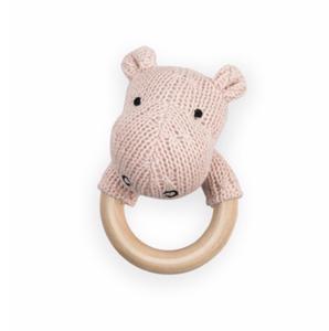 Jollein rammelaar en bijtring hippo roze