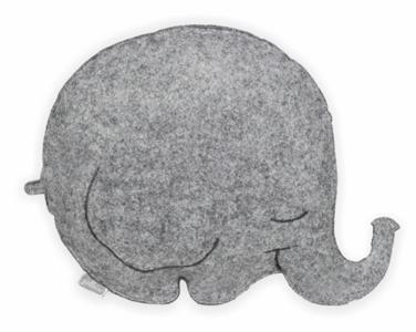Jollein kussen olifantje Bubbels grijs