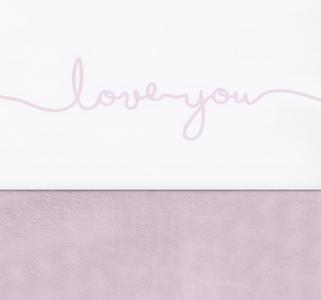 Jollein wieglaken love you roze