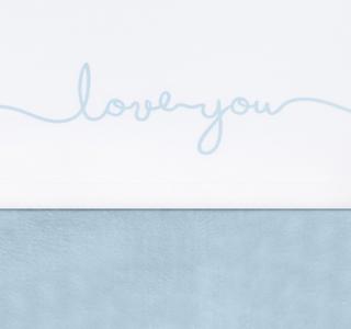 Jollein wieglaken love you blauw