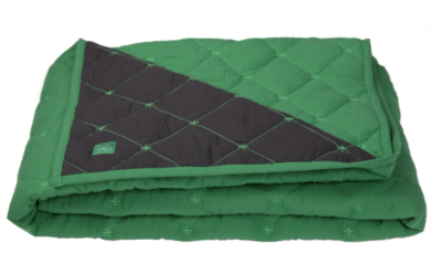 Imps en Elfs ledikantdeken quilted groen