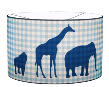 Little Dutch hanglamp blauw ruit silhouette