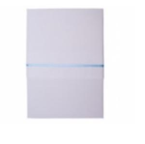 Little Dutch ledikantlaken wit met blauw streepje