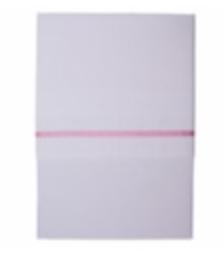 Little Dutch ledikantlaken wit met roze strookje