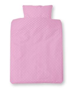 Cotton Baby dekbedovertrek roze met ster