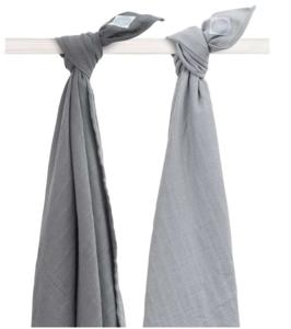 Jollein hydrofieldoeken grijs en donker grijs multipack 2 stuks