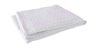 Jollein deken wit gebreid