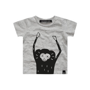 Your Wishes monkey face shirt korte mouw