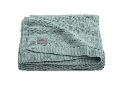 Jollein wiegdeken ash green knit