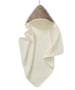 Cotton Baby badcape panter bruin