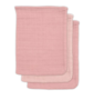 Jollein washandje bamboe roze (3 pack)