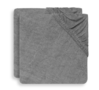 Jollein aankleedkussenhoes badstof grijs - 2 stuks